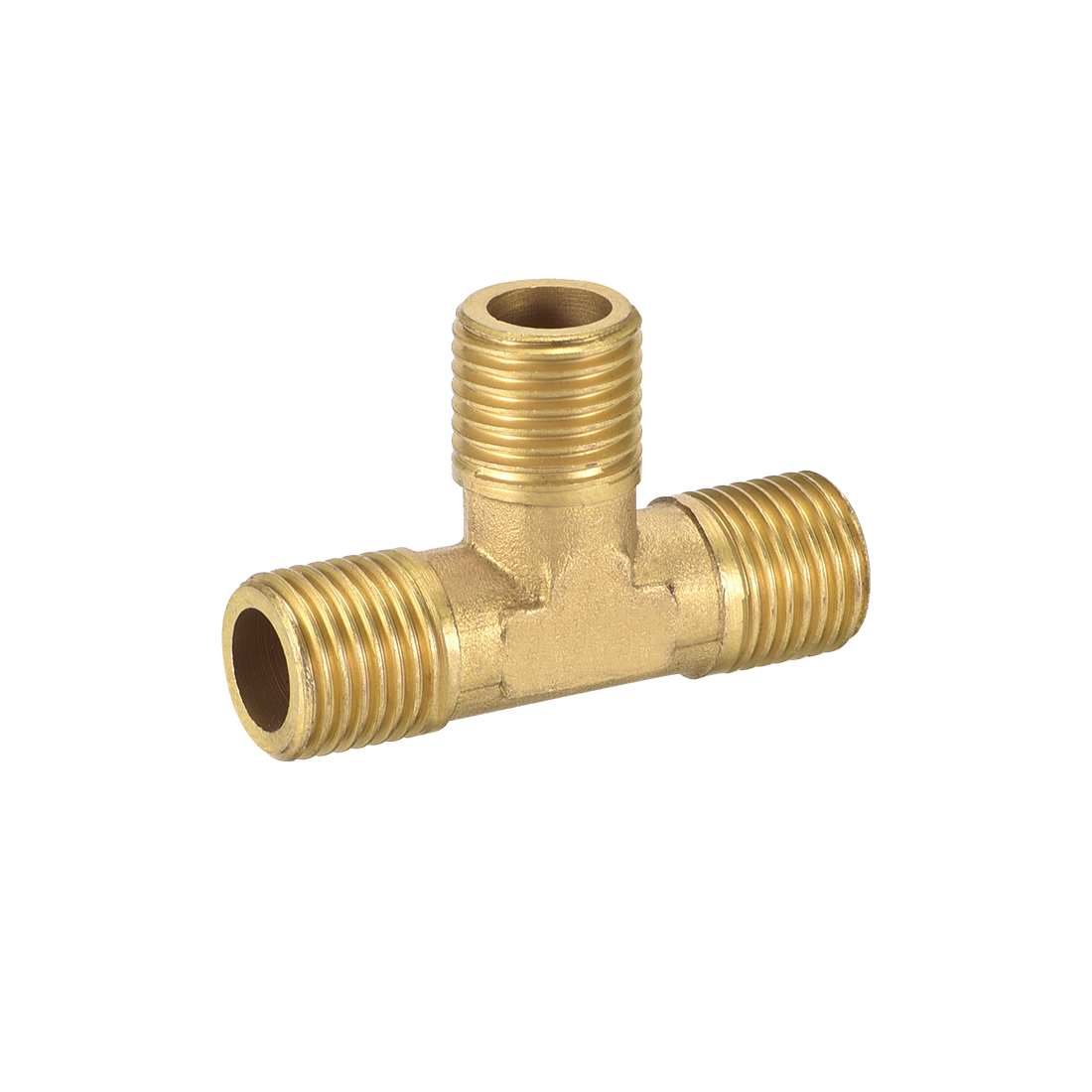 Brass Tee Pipe Fitting 1/4BSP Male Thread T Shaped Connector Coupler