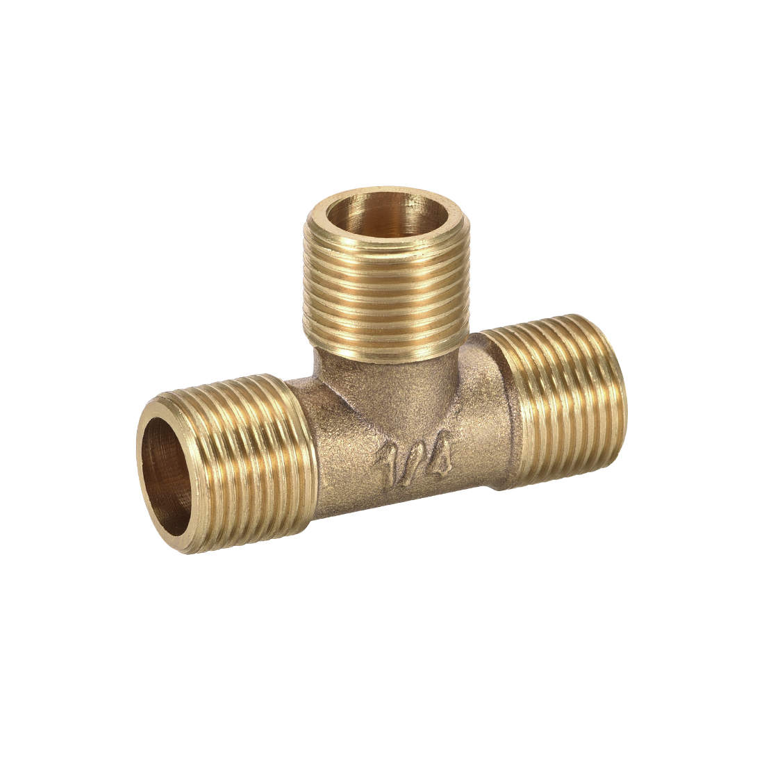 Brass Tee Pipe Fitting 3/8BSP Male Thread T Shaped Connector Coupler
