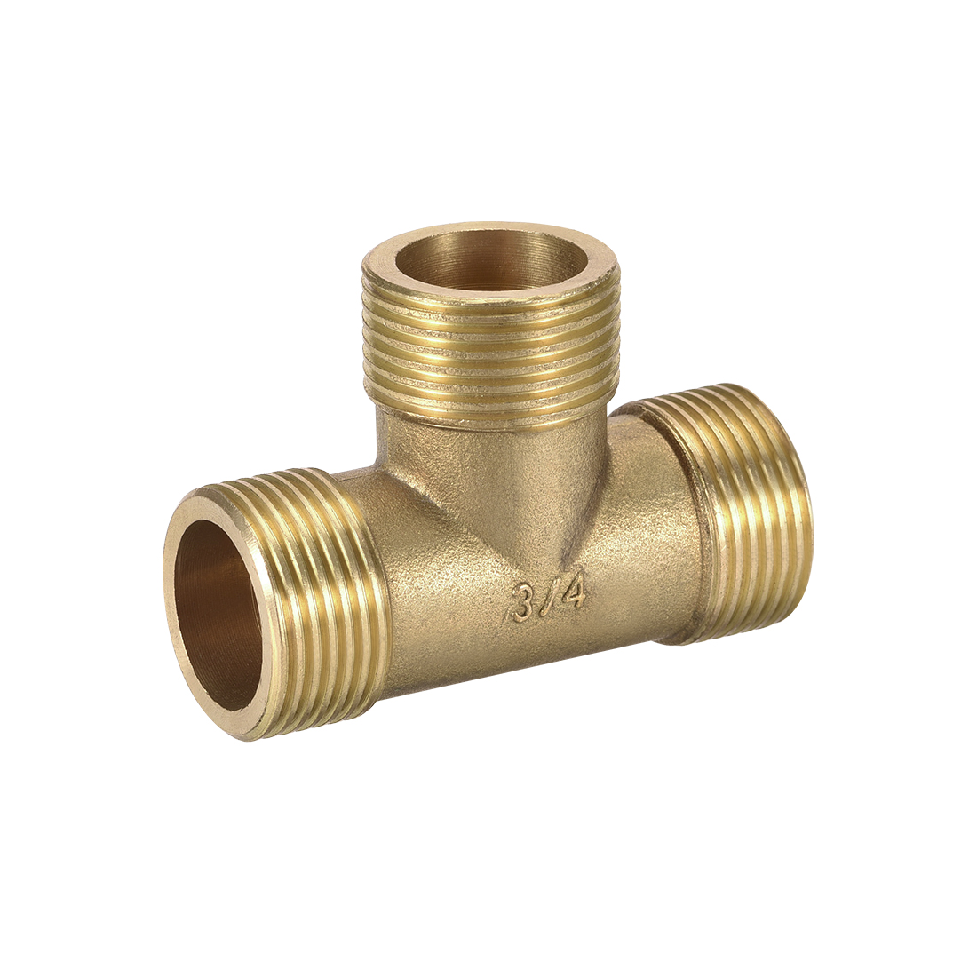 Brass Tee Pipe Fitting 3/4BSP Male Thread T Shaped Connector Coupler