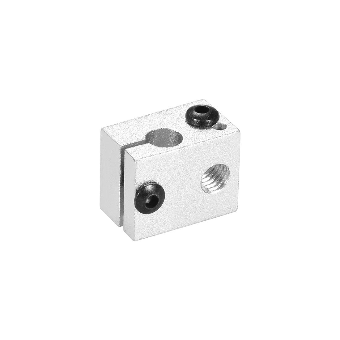 Aluminum Extruder Heater Block, Fit V6 3D Printer Silver