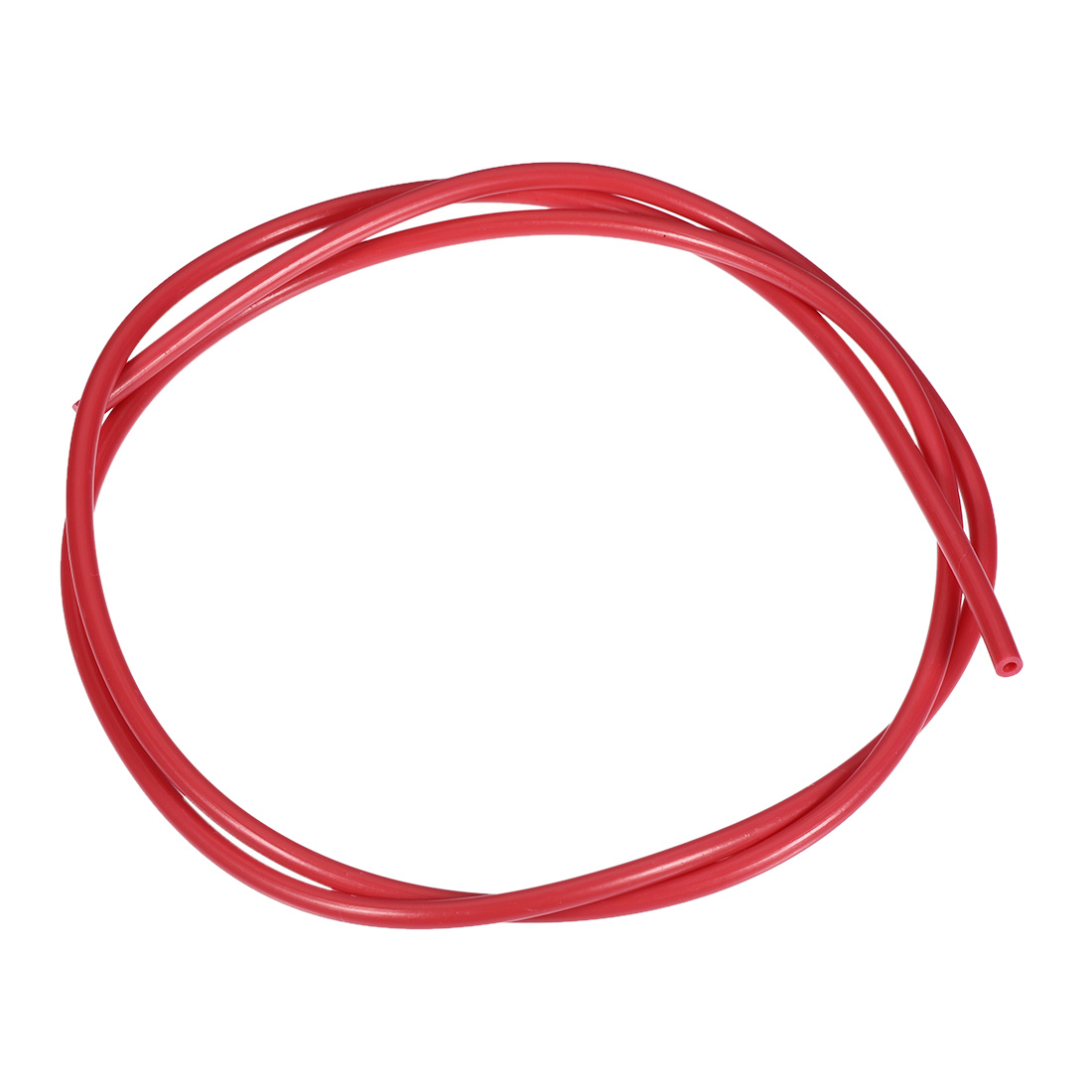 PTFE Tube 3.2Ft - ID 2mm x OD 4mm Fit 1.75 Filament for 3D Printer Red