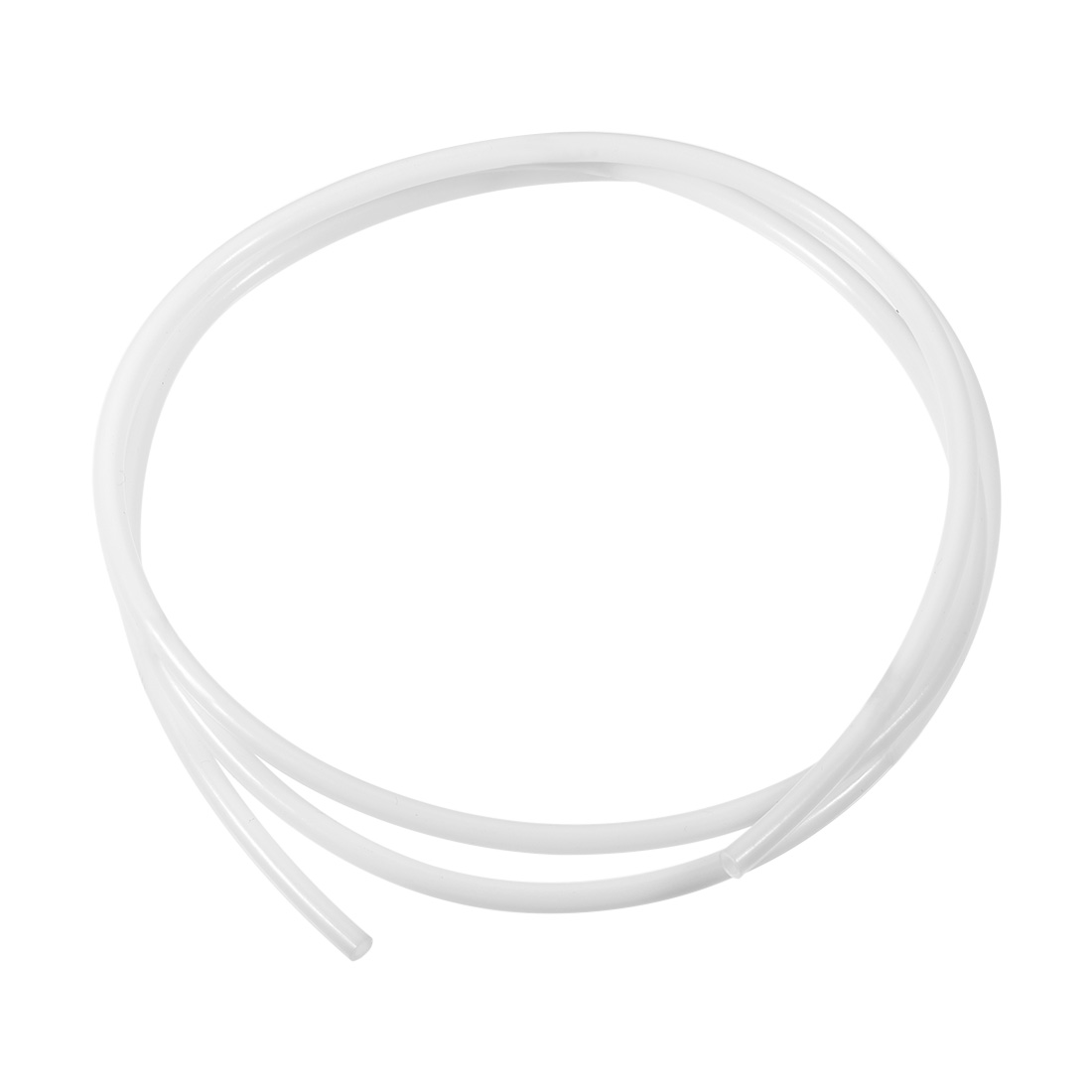 PTFE Tube 4.9Ft - ID 4mm x OD 6mm Fit 3mm Filament for 3D Printer White