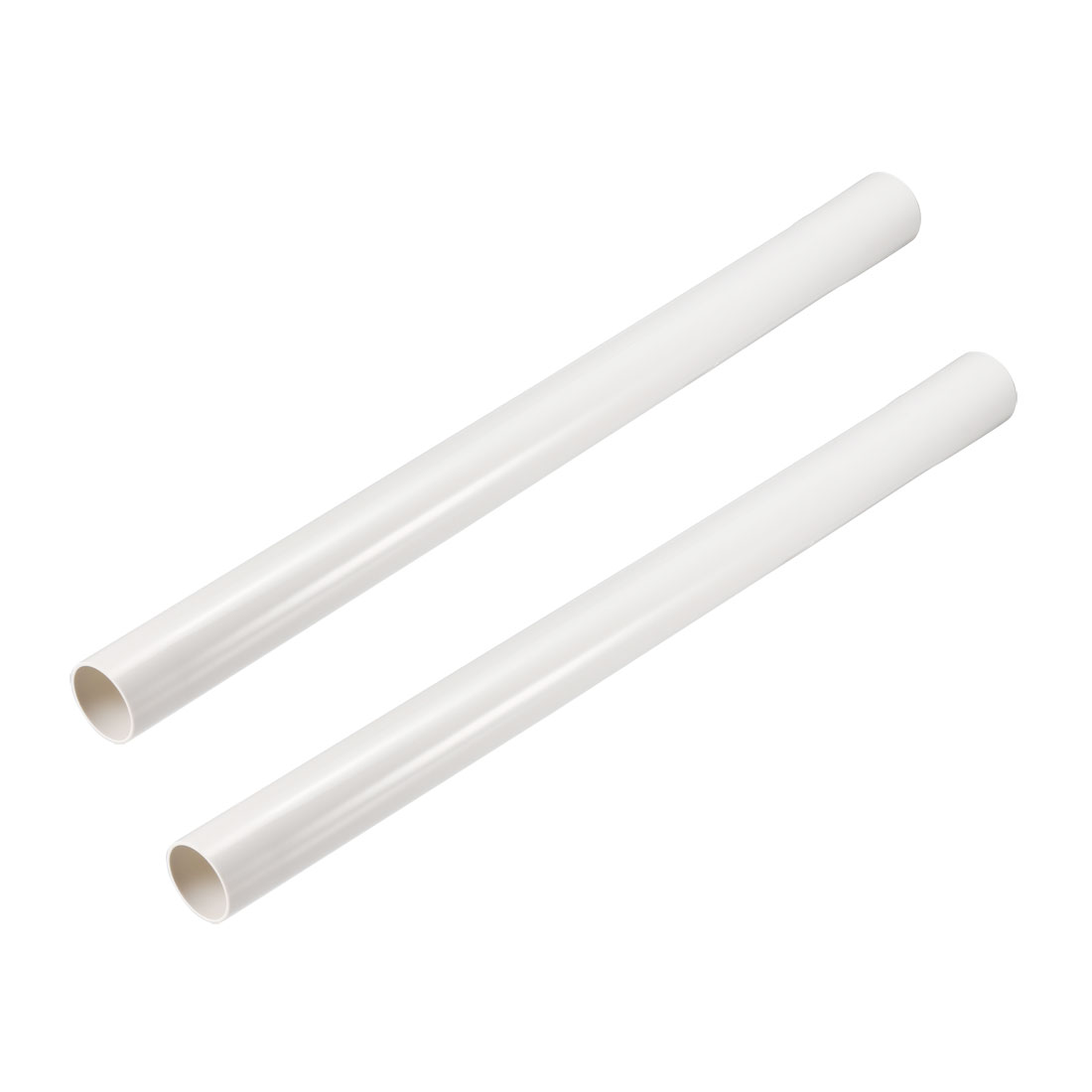 Extension Wand 32mm Plastic Tube 44cm Length Vacuum Cleaner Accessory White 2Pcs
