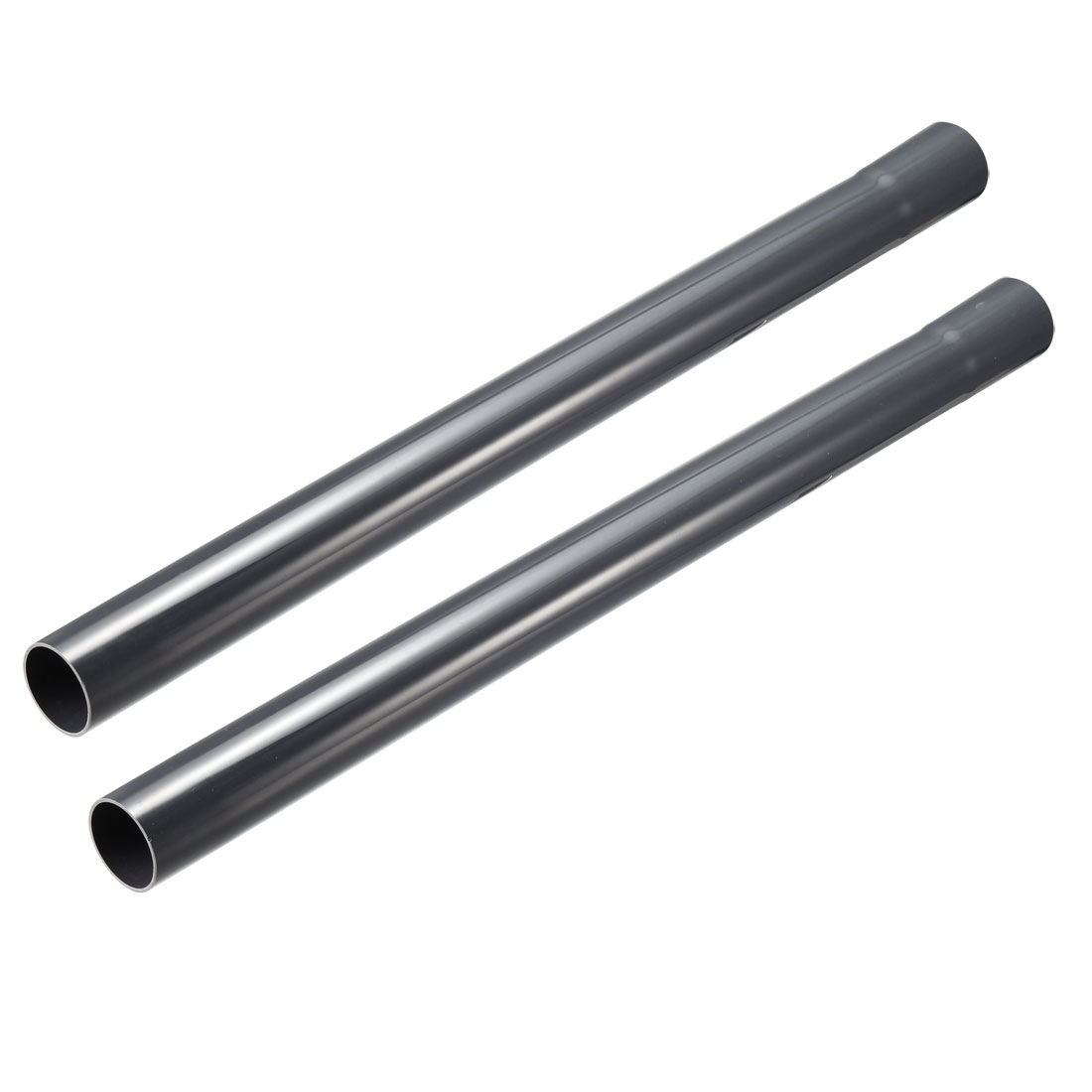 Extension Wand 32mm Plastic Tube 45cm Length Vacuum Cleaner Accessory Gray 2Pcs