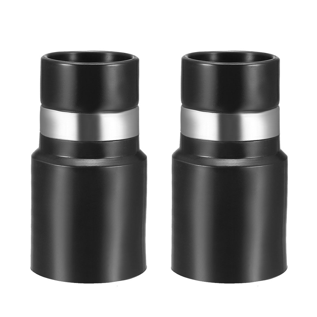 Central Vacuum Cleaner Hose Adapter Connector 32mm Plastic Black 2Pcs