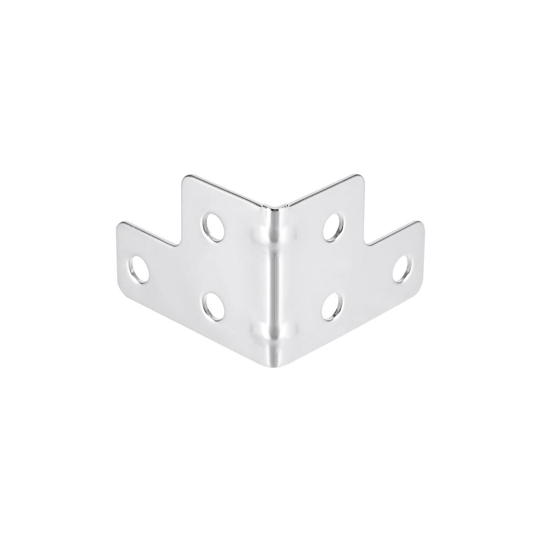 Metal Box Corner Protectors Wooden Box Edge Guard Protector 42 x 42 x 32mm 24pcs