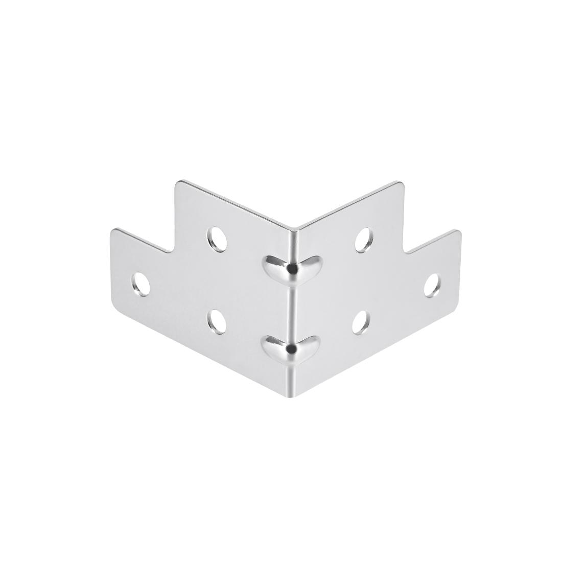 Metal Box Corner Protectors Wooden Box Edge Guard Protector 55 x 55 x 40mm 24pcs