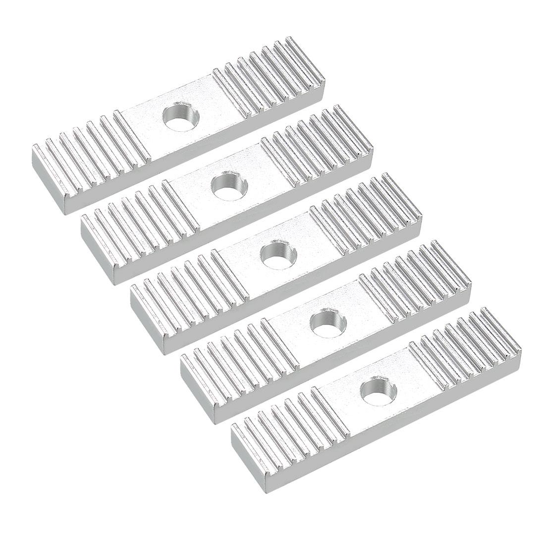 9 x 40 mm GT2 Timing Belt Aluminum Gear Clamp Mounting Block for 3D Printer 5pcs