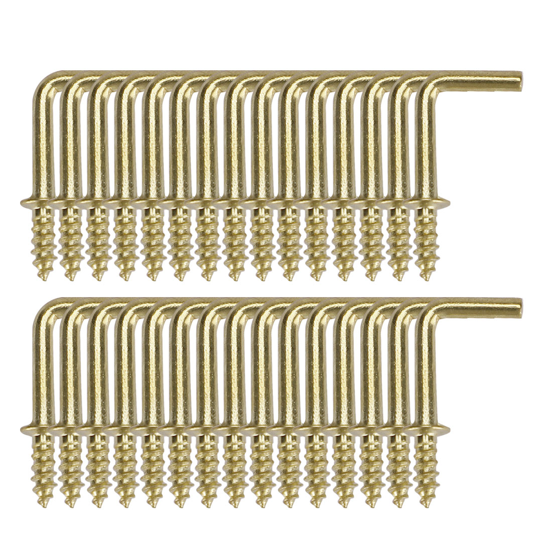 30pcs Cup Square Hook 1/2 Inch Brass Plating Coated Hanger Holder Gold Tone