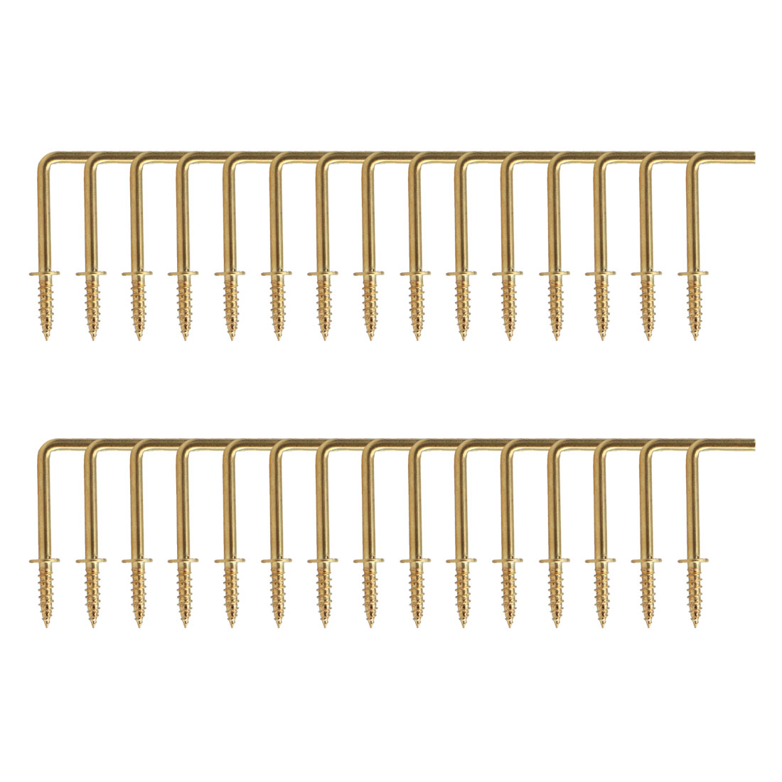 30pcs Cup Square Hook 1 Inch Brass Plating Coated Hanger Holder Gold Tone