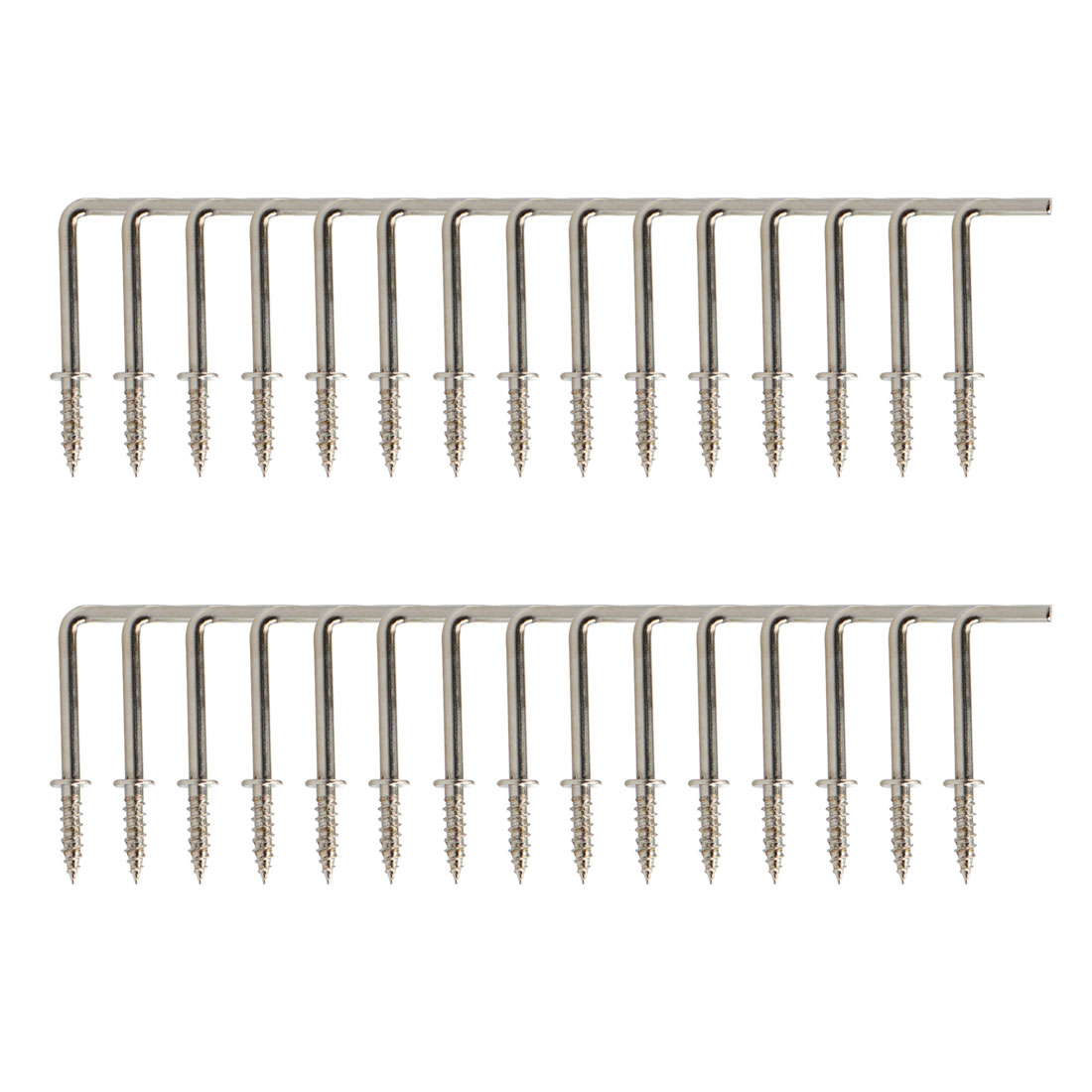 30pcs Cup Square Hook 1 Inch Nickel Plating Coated Hanger Holder Silver Gray