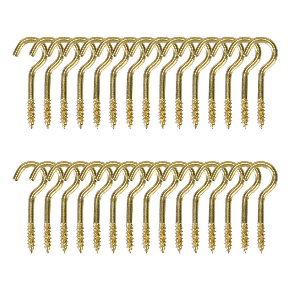 30pcs Cup Ceiling Hooks 1 Inch Durable Metal Screw in Hanger Hooks Gold Tone