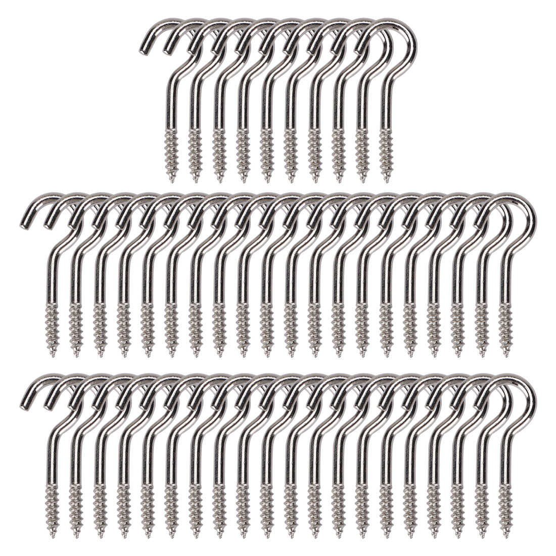 50pcs Cup Ceiling Hooks 1 Inch Durable Metal Screw in Hanger Hooks Silver Gray