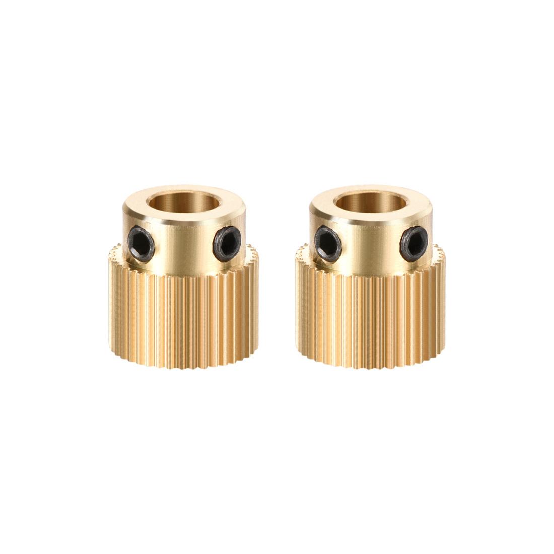 Brass Drive Gear Extruder Wheel 40 Teeth 5mm Bore 2pcs
