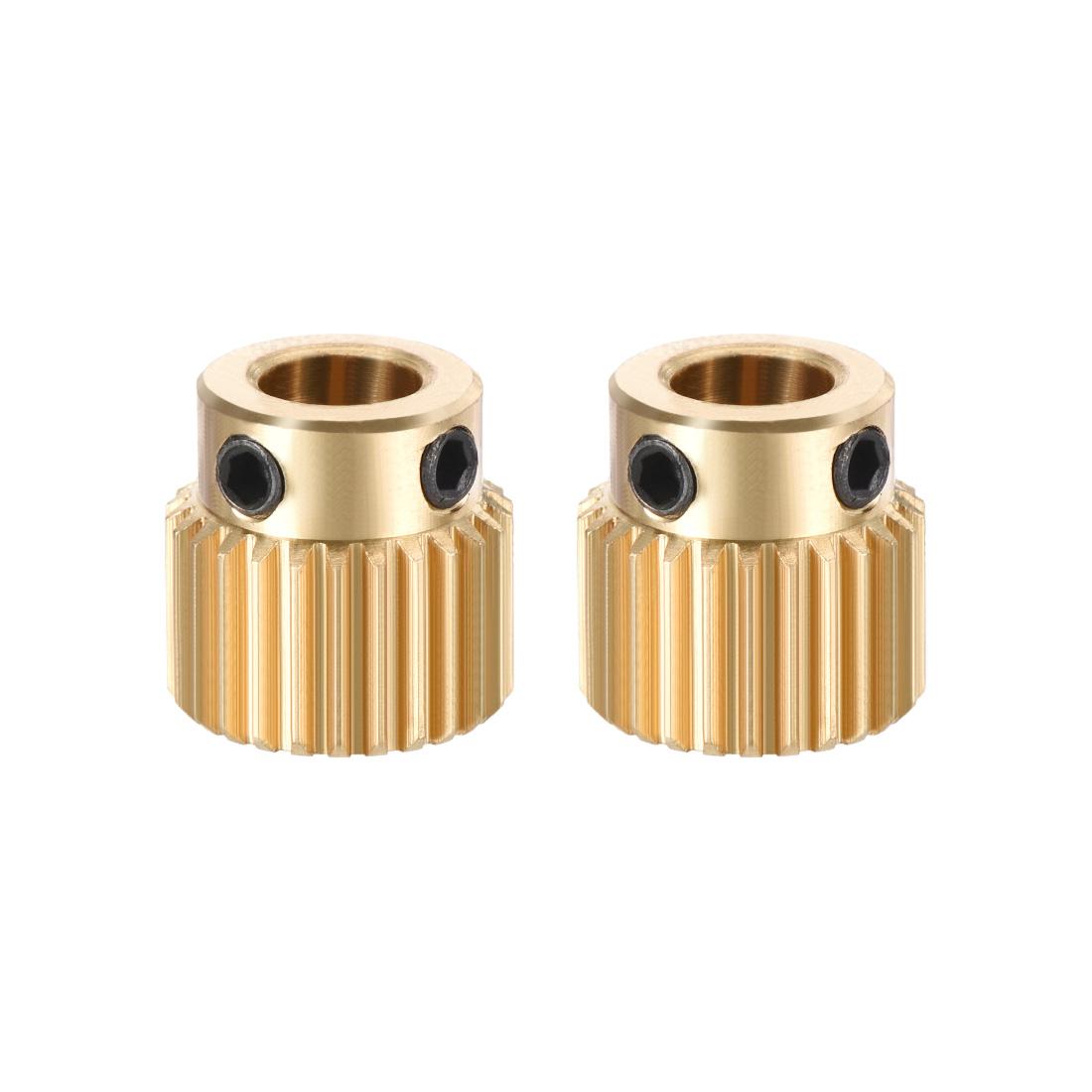 Brass Drive Gear Extruder Wheel 26 Teeth 5mm Bore 2pcs