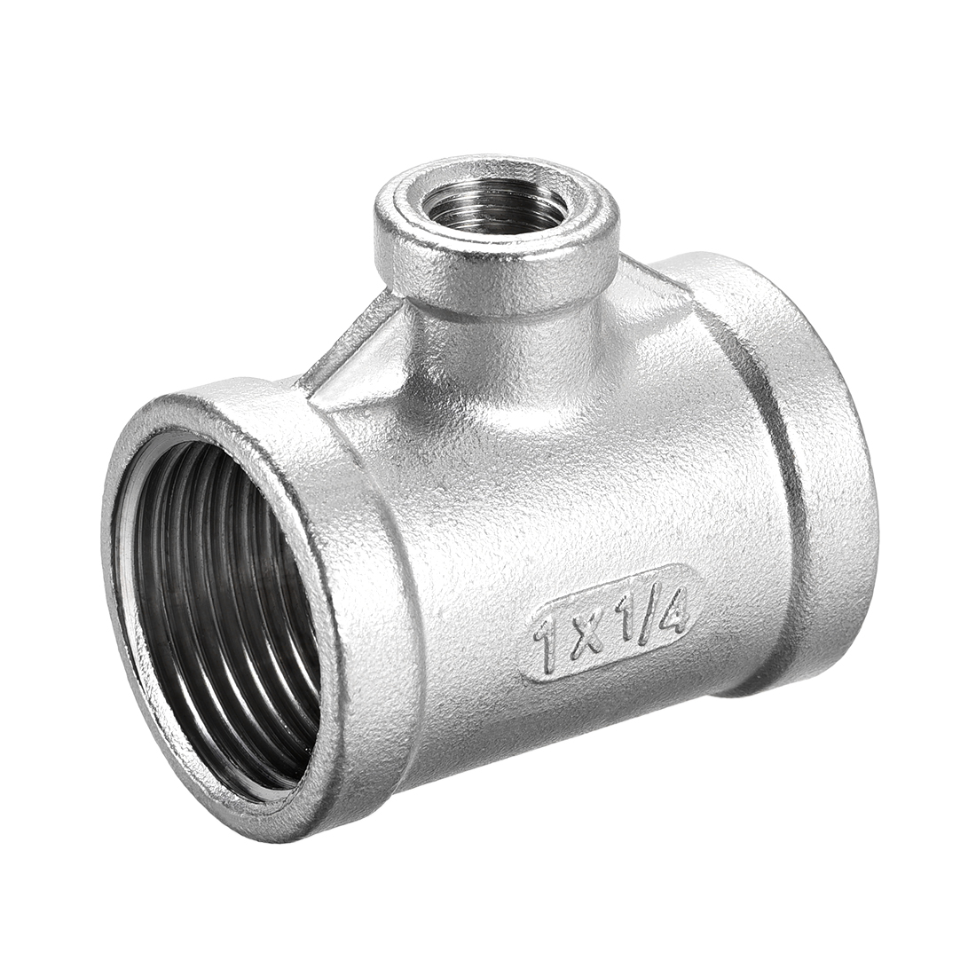 Stainless Steel 304 Cast Pipe Fitting 1BSPTx1/4BSPT Tee Shaped Connector