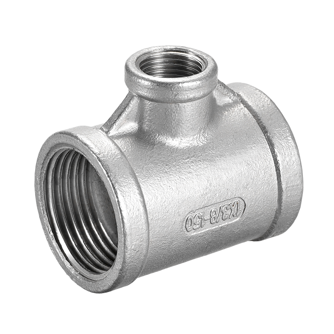 Stainless Steel 304 Cast Pipe Fitting 1BSPTx3/8BSPT Tee Shaped Connector