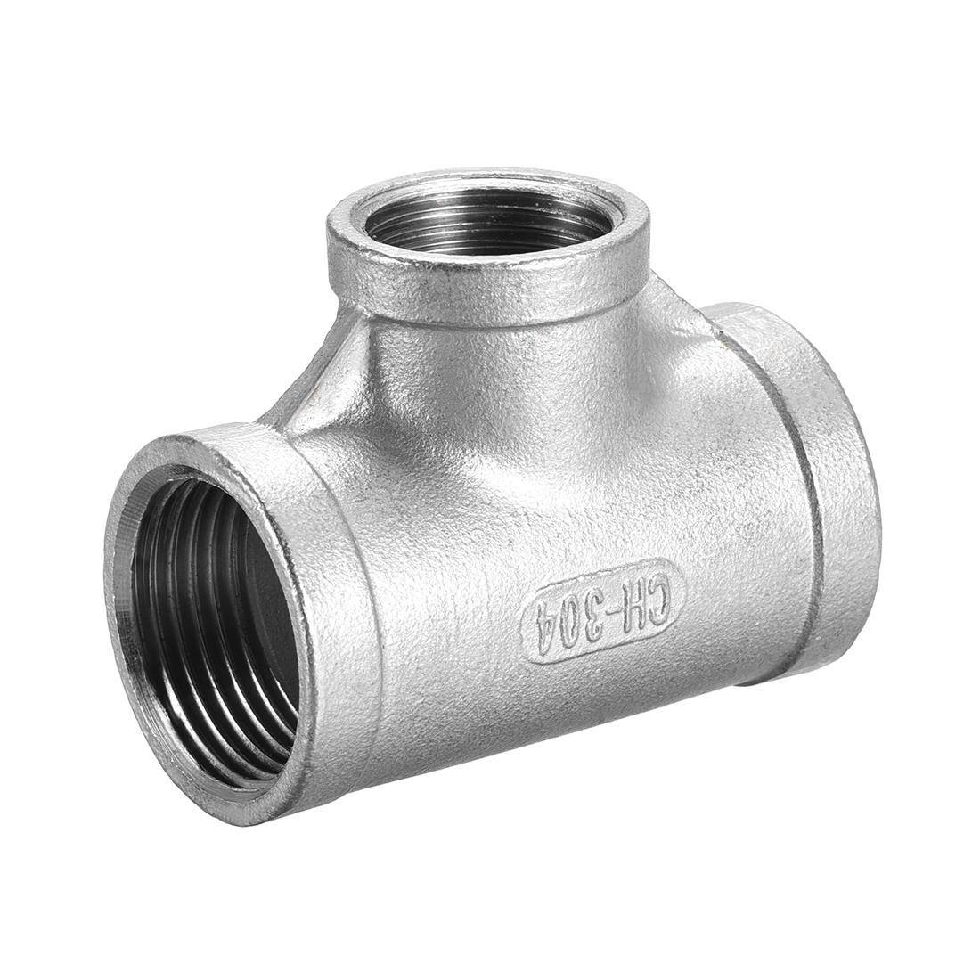 Stainless Steel 304 Cast Pipe Fitting 1 BSPT x 3/4 BSPT Tee Shaped Connector