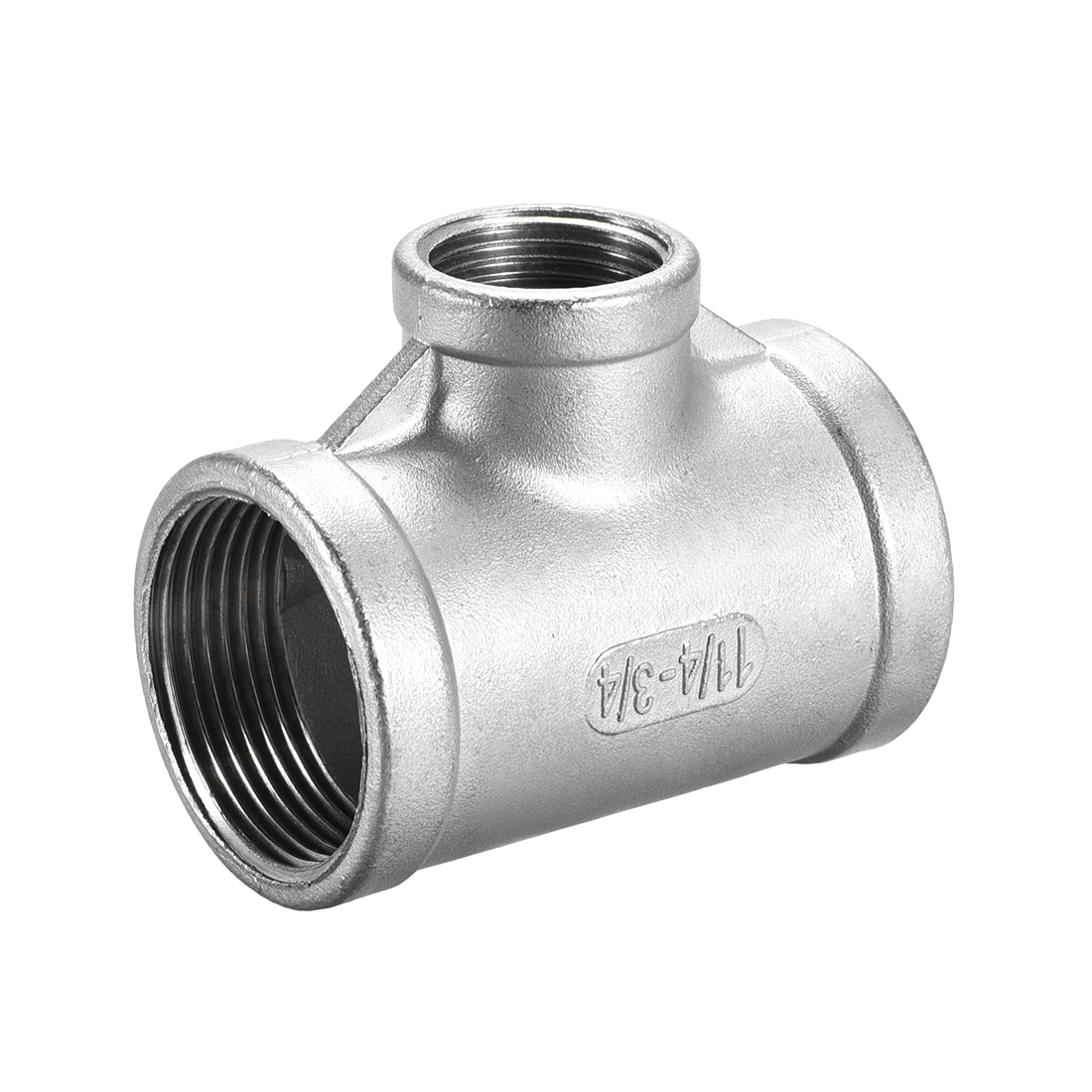 Stainless Steel 304 Pipe Fitting 1-1/4 BSPT x 3/4 BSPT Tee Shaped Connector