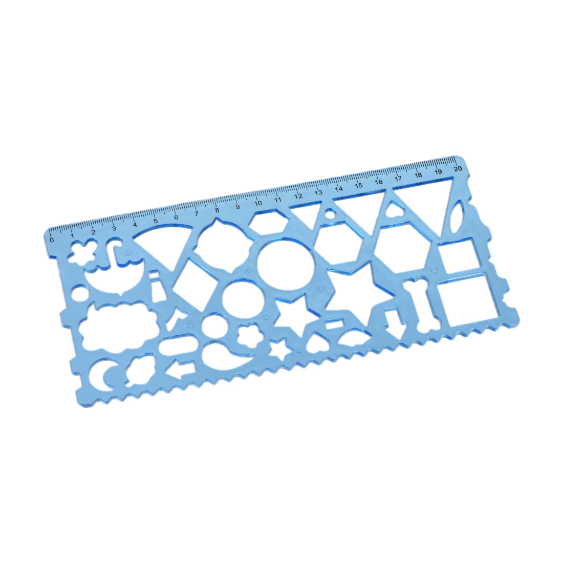 Flexible Geometric Technical Drawing Template Ruler Plastic 20cm for Math