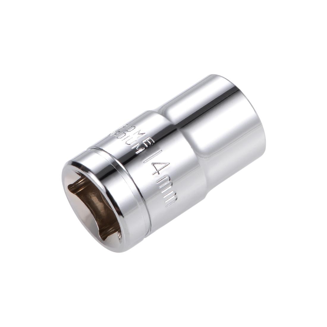 1/2-inch Drive E14 Universal Spline Socket Shallow 12 Point Cr-V Steel