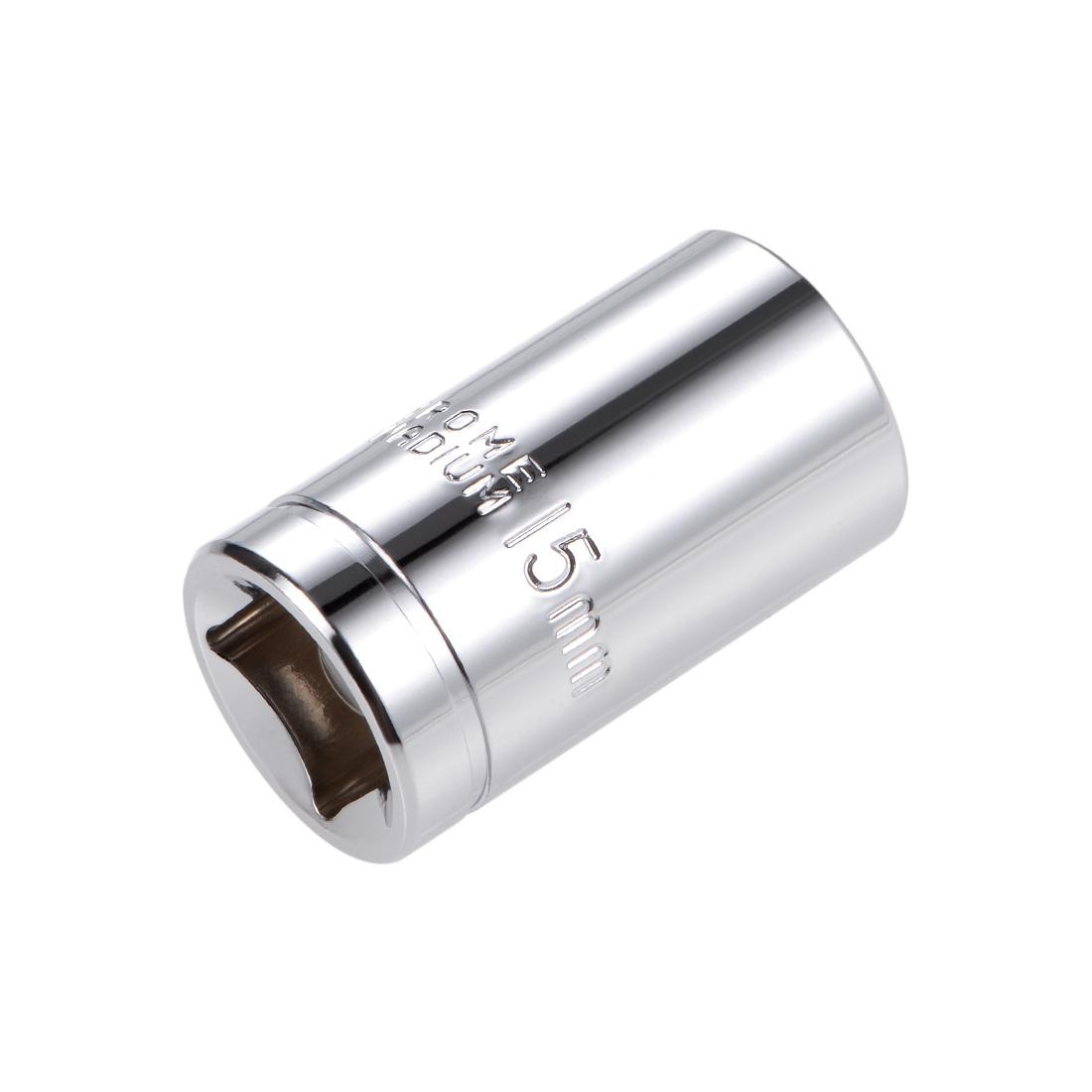 1/2-inch Drive E15 Universal Spline Socket Shallow 12 Point Cr-V Steel