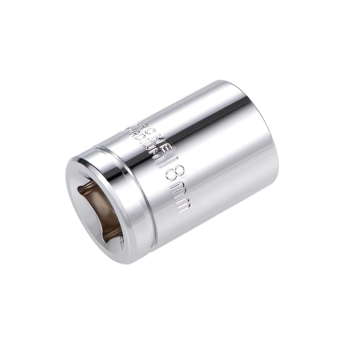 1/2-inch Drive E18 Universal Spline Socket Shallow 12 Point Cr-V Steel