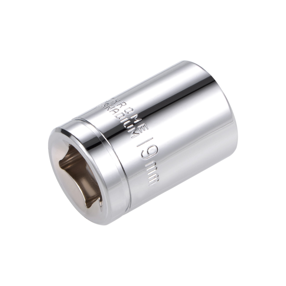1/2-inch Drive E19 Universal Spline Socket Shallow 12 Point Cr-V Steel