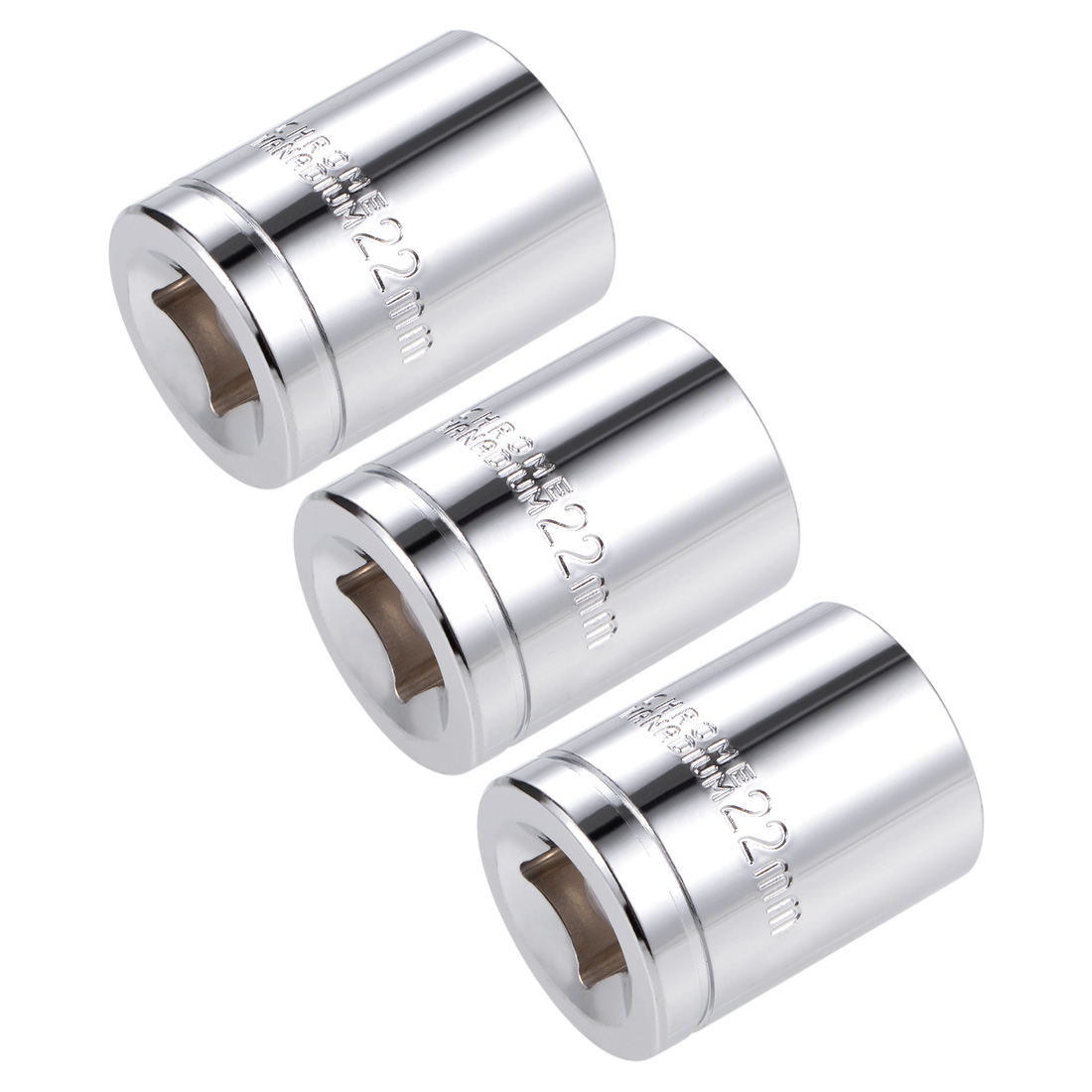 1/2-inch Drive E22 Universal Spline Socket Shallow 12 Point Cr-V Steel 3 pcs