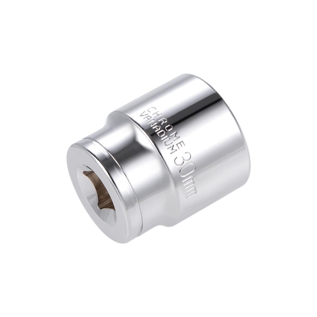 1/2-inch Drive E30 Universal Spline Socket Shallow 12 Point Cr-V Steel