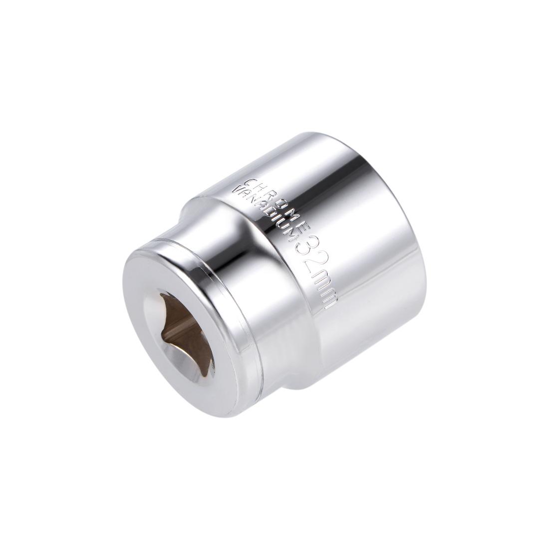 1/2-inch Drive E32 Universal Spline Socket Shallow 12 Point Cr-V Steel