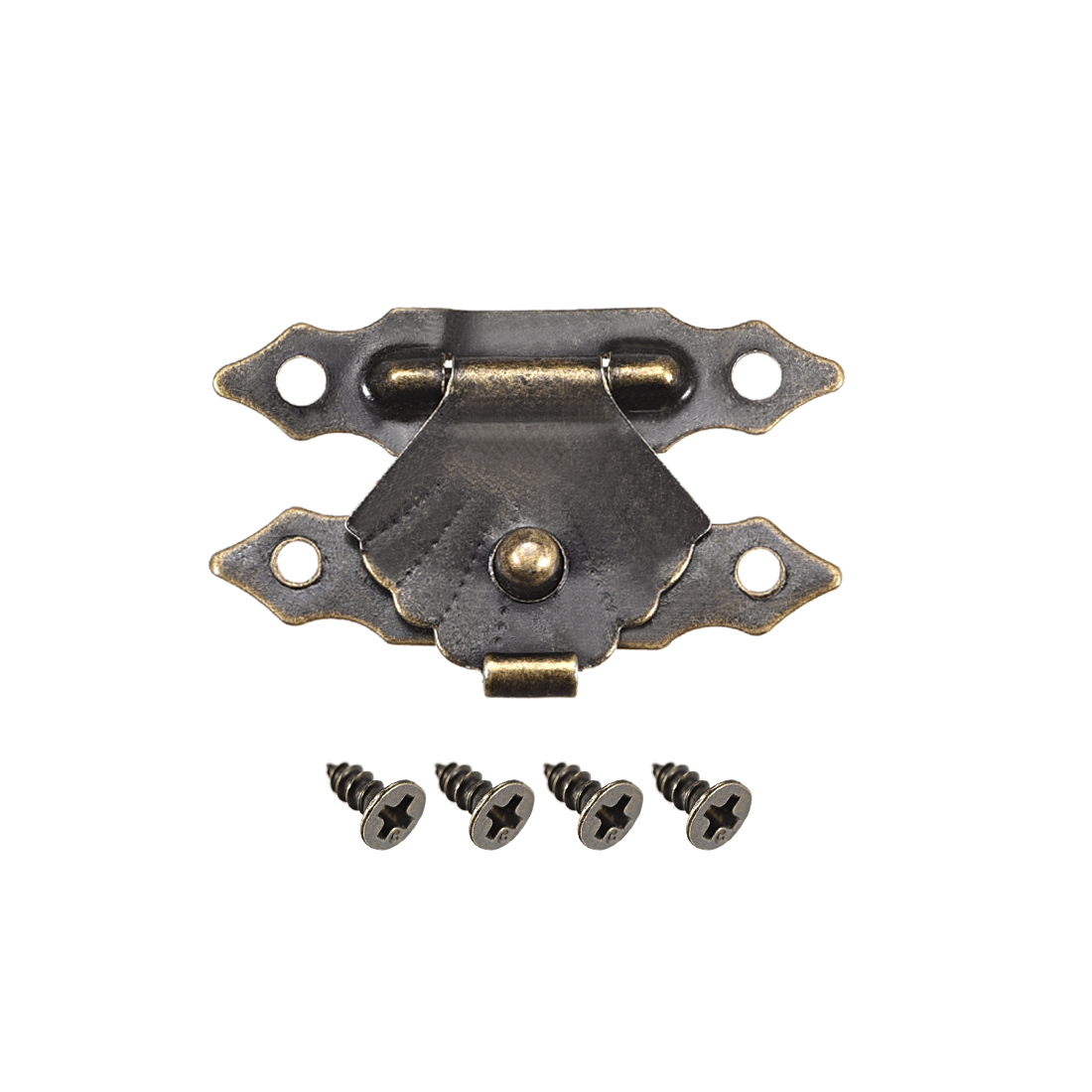 Wood Case Box Hasp 29x19mm Antique Latches Hook Bronze Tone, 20 Pcs