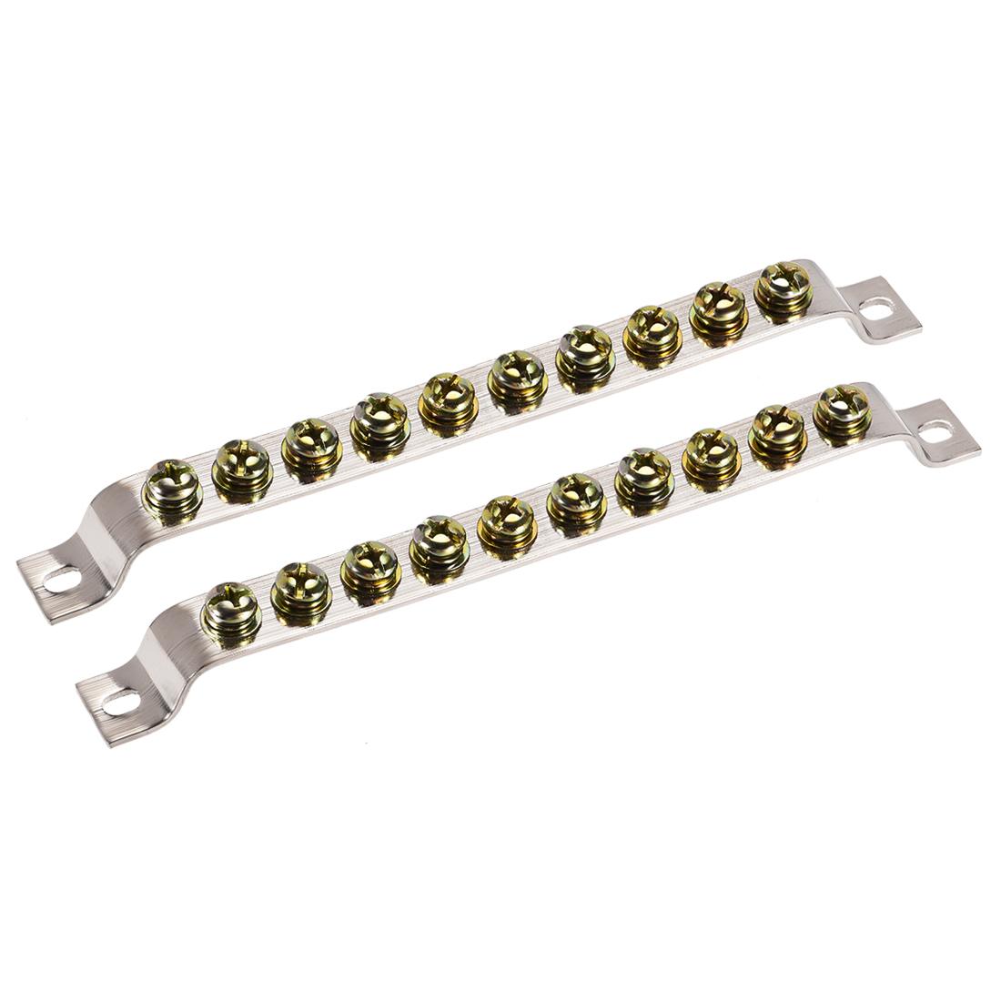 10 Positions Ground Wire Bridge Design Terminal Block Connector Bar 2 Pcs
