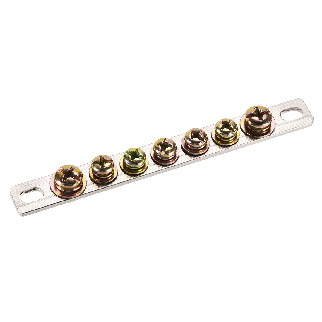 7 Positions Single Row Straight Copper Screw Terminal Block Connector Bar