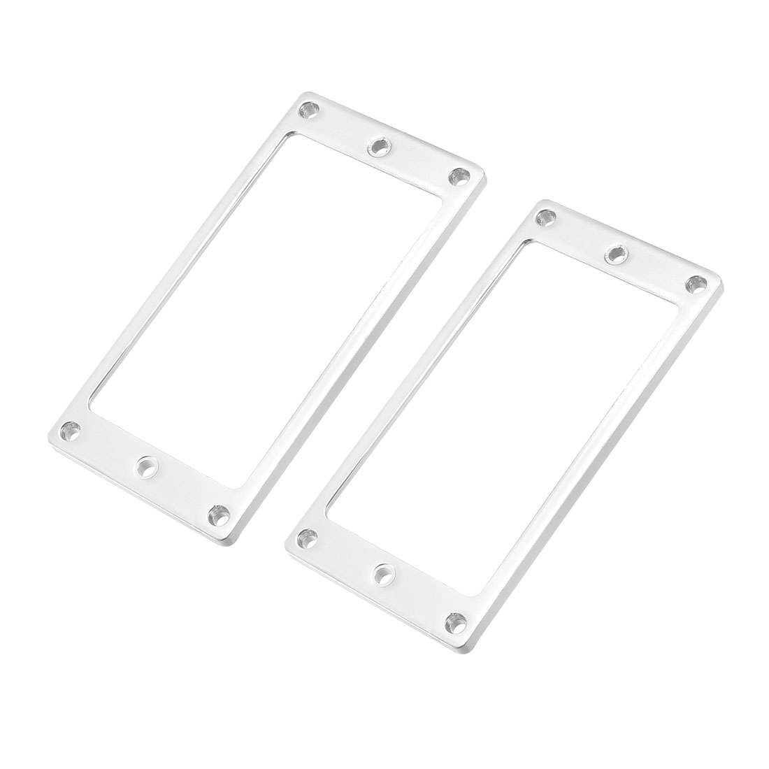 Humbucker Pickup Frame Mounting Rings Parts for Electric Guitars Silver 2Pcs
