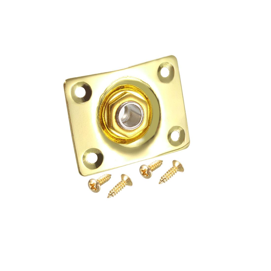1/4 Inch Guitar Mono Output Jack Plate Socket for LP/EPI Electric Guitar Golden
