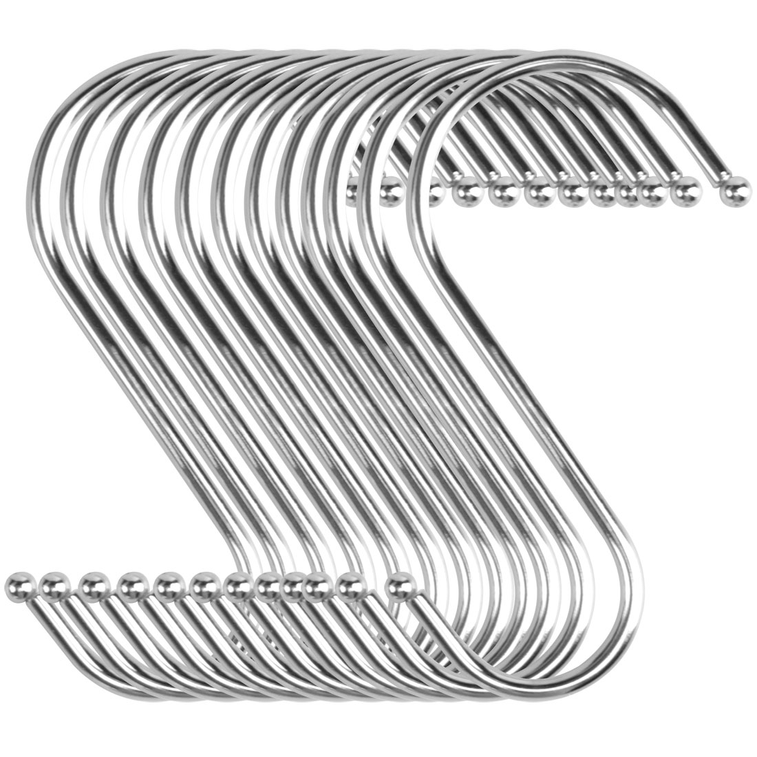 12pcs S Shaped Hook Stainless Steel for Kitchen Hat Utensil Pot Holder
