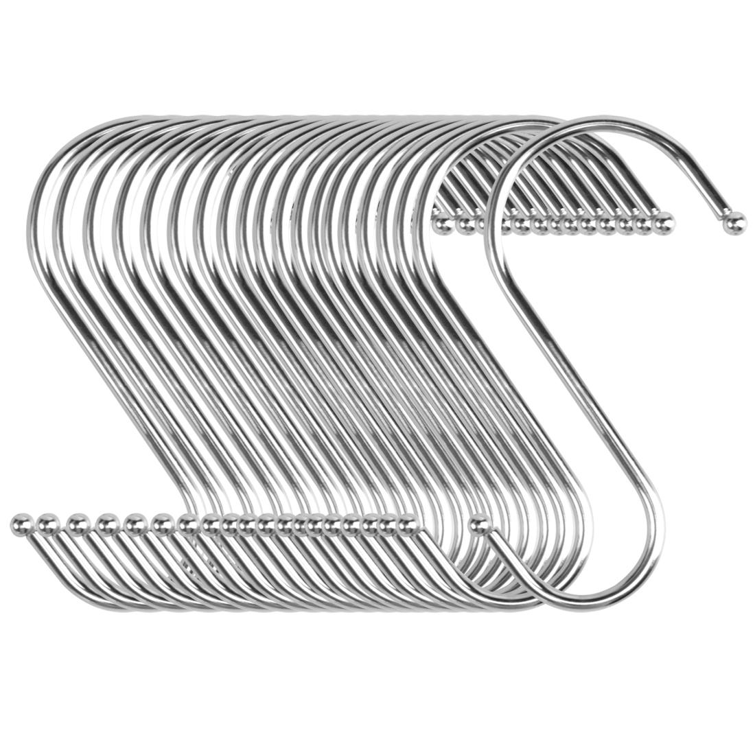 20pcs S Shaped Hook Stainless Steel for Kitchen Hat Utensil Pot Holder