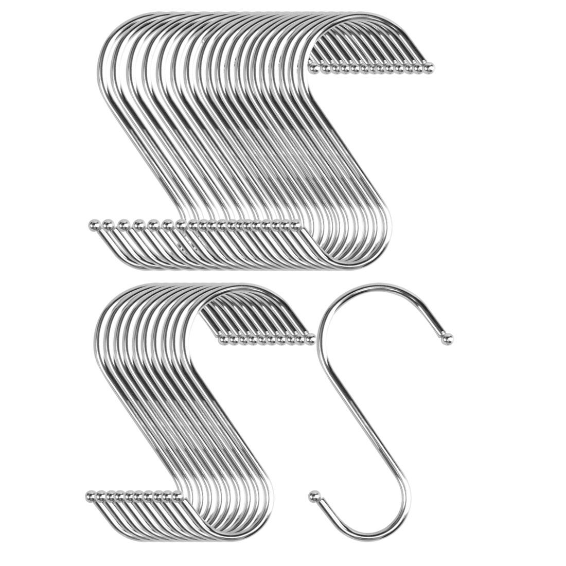 30pcs S Shaped Hook Stainless Steel for Kitchen Hat Utensil Pot Holder