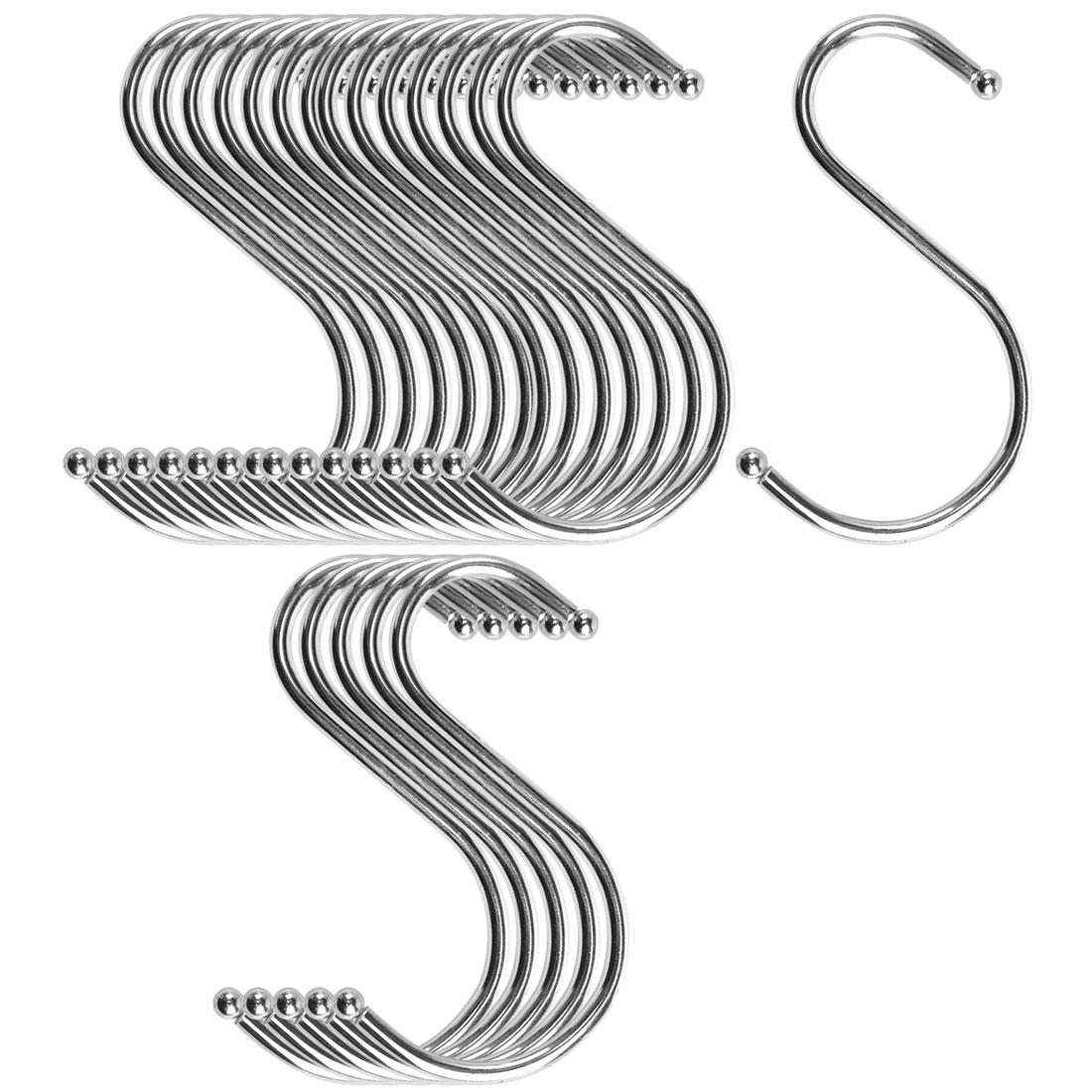 S Shape Hook Rack Stainless Steel for Kitchenware Coat Towel Holder 20 Pack