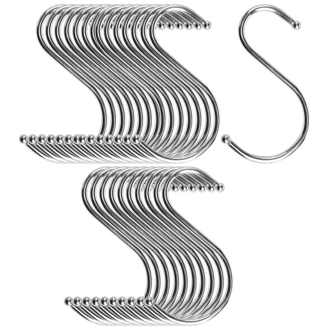 S Shape Hook Rack Stainless Steel for Kitchenware Coat Towel Holder 30 Pack