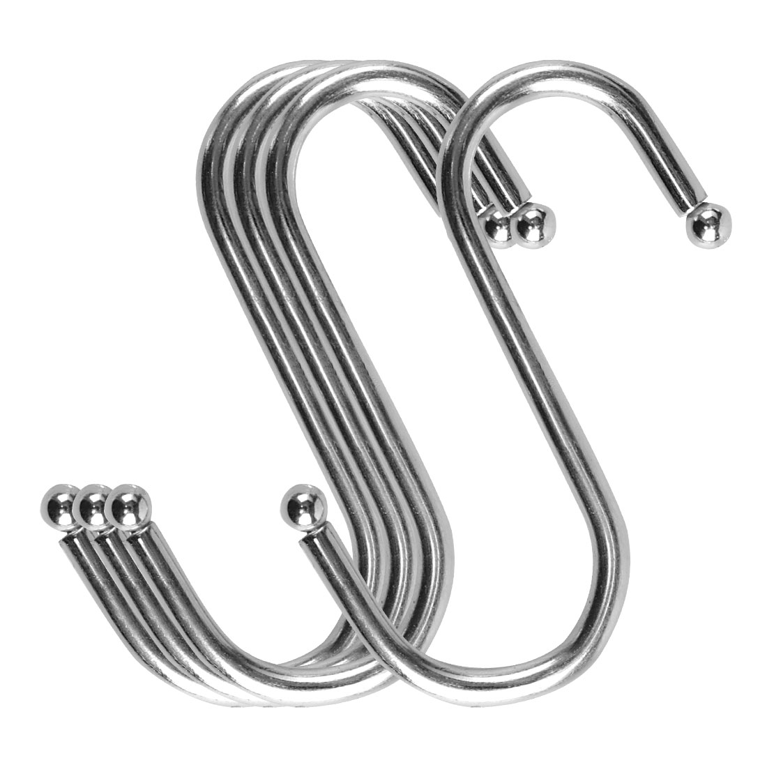 S Shape Hook Rack Stainless Steel for Kitchenware Clothes Towel Holder 4 Pack