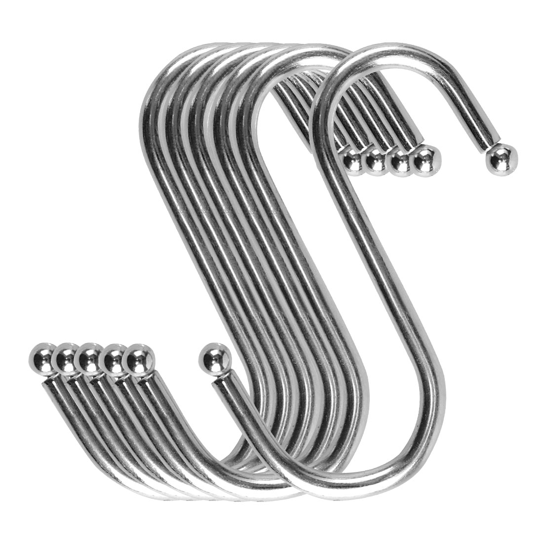 S Shape Hook Rack Stainless Steel for Kitchenware Clothes Towel Holder 6 Pack