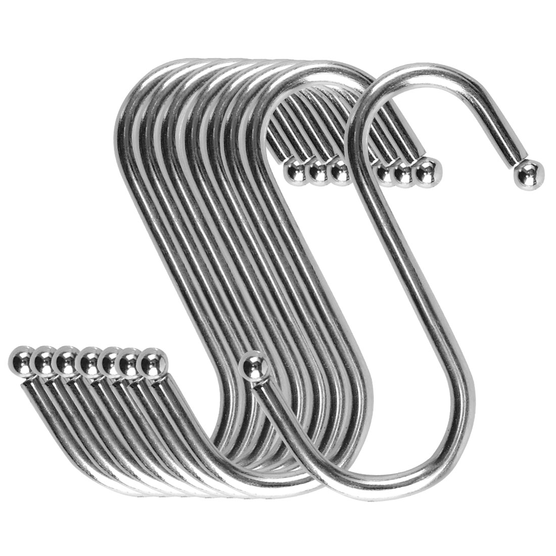 S Shape Hook Rack Stainless Steel for Kitchenware Clothes Towel Holder 8 Pack
