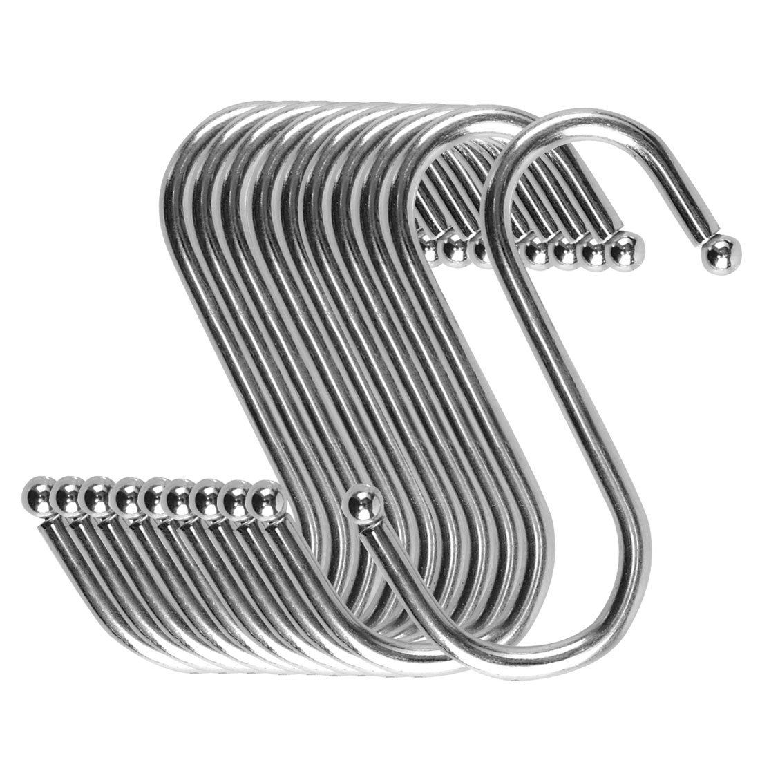 S Shape Hook Rack Stainless Steel for Kitchenware Clothes Towel Holder 10 Pack