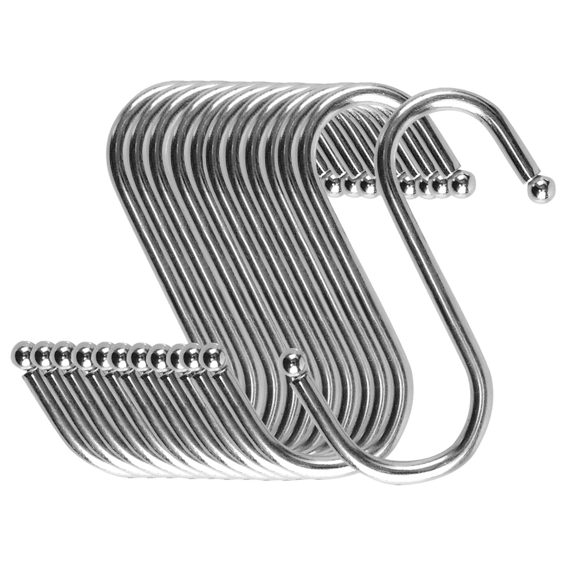 S Shape Hook Rack Stainless Steel for Kitchenware Clothes Towel Holder 12 Pack