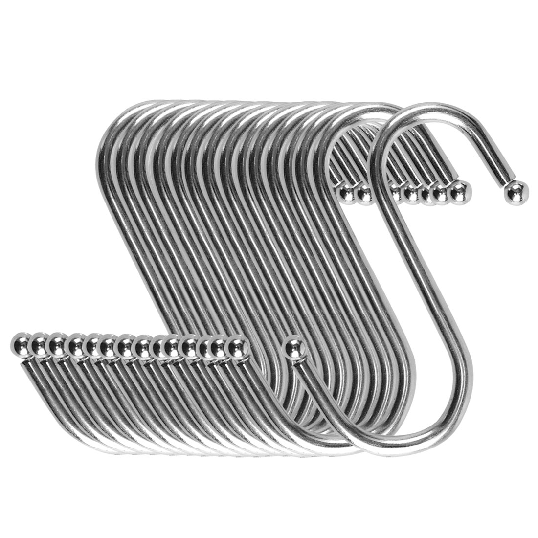 S Shape Hook Rack Stainless Steel for Kitchenware Clothes Towel Holder 15 Pack