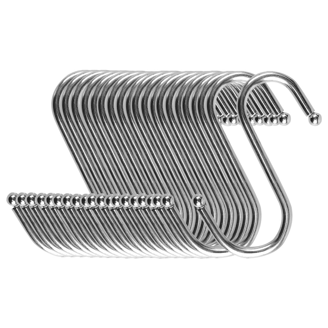 S Shape Hook Rack Stainless Steel for Kitchenware Clothes Towel Holder 20 Pack