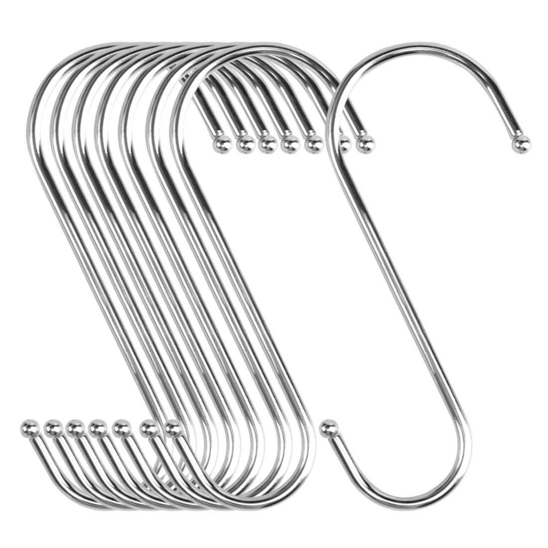 8pcs S Shaped Hook Stainless Steel Kitchenware Hat Utensil Pot Holder