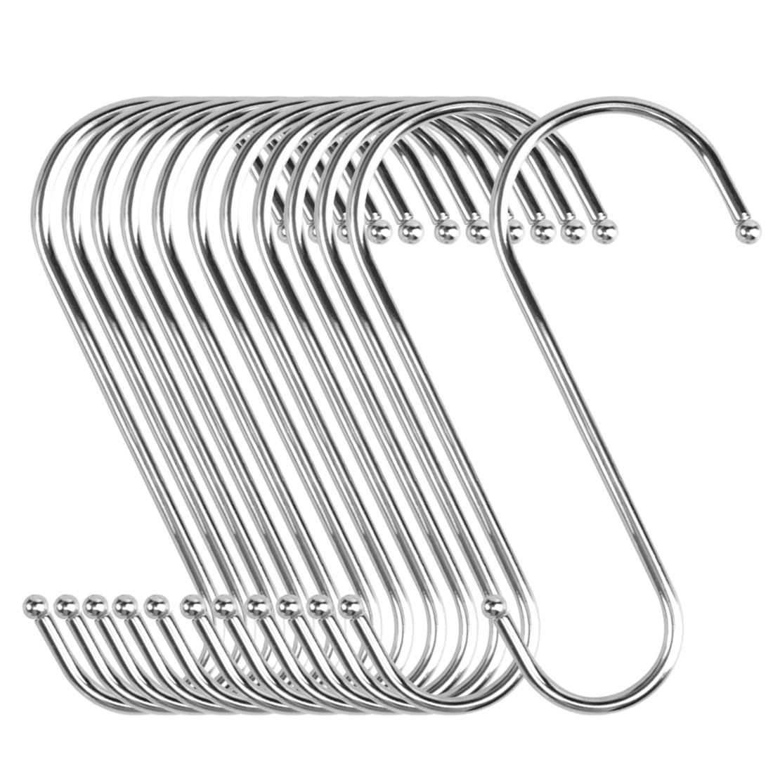 12pcs S Shaped Hook Stainless Steel Kitchenware Hat Utensil Pot Holder
